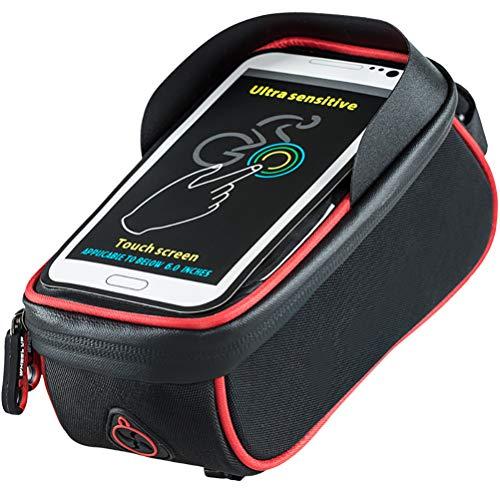 LA-BOOR Bicycle Bag Frame Front Top Tube Rainproof Bike Bags 6.5in Phone Case Waterproof Touchscreen Bicycle Bag MTB Cycling Accessories
