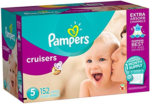 Pampers Cruisers Disposable Diapers Size 5, 152 Count (One Month Supply)