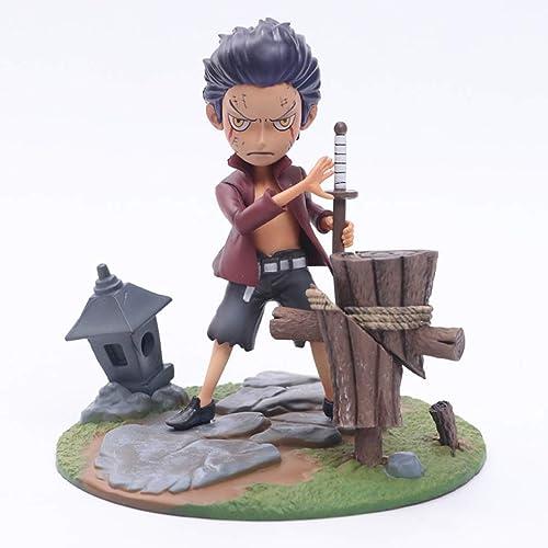 LLKOZZ Una Pieza de Anime Estatua Dracule Mihawk Modelo de Juguete PVC colección de decoración de Escritorio -5.91in Juguete
