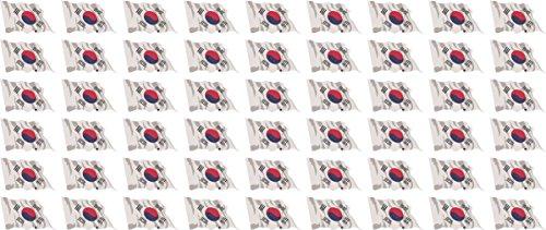 Jintora Mini Drapeaux/Drapeaux Ensemble - agitant Le Drapeau - 20x12mm - Autocollant - Südkorea - Standard pour la Voiture, Le Bureau, la Maison et l'école - 54 pièces