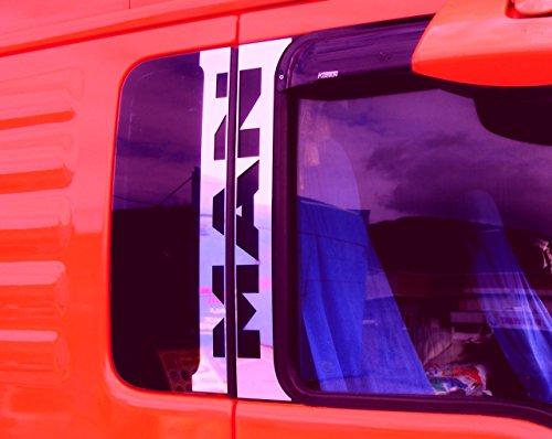 4 x Edelstahl poliert chrom Tür Dekorationen für MAN TGA TGX Euro 5 LKW