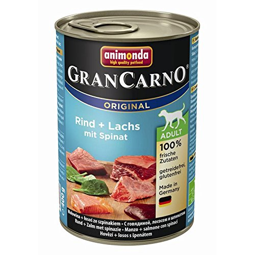 Animonda Dog Dose GranCarno Adult Rind & Lachs mit Spinat 400g