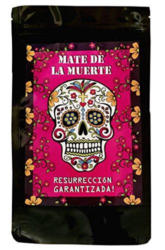 Mate de la Muerte. Der Mate Tee mit Guarana und Colanuss + Natürlich zuckerfreier Energy Booster. Auch super für Eistee / Mix-Drinks / Cocktails … (Vorratspack)