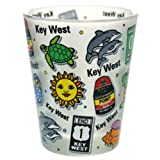 Key West Florida Landmarks and Icons Collage Shot Glass by World By Shotglass