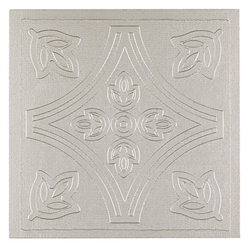 Achim Home Furnishings WTV301MT10 Metallo Vinyl Self-Sticking Wall Tiles, 4 by 4-inch, Silver, 27-Pack