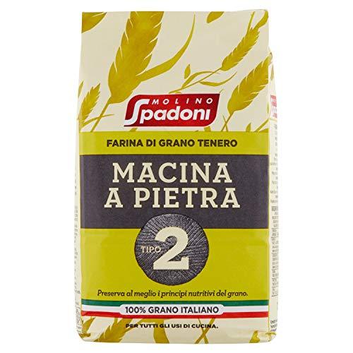 Molino Spadoni Farina Grano Tenero Macinata a Pietra Tipo 2, 1kg