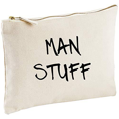 Man Stuff Toile naturelle Homme pour homme Trousse de toilette Cadeau Idée de cadeau Trousse de toilette Cadeau