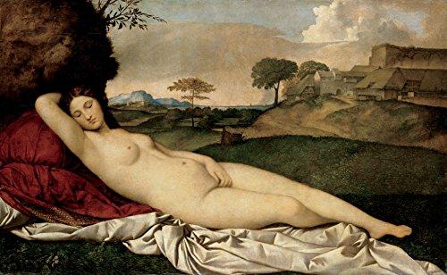 Giorgione - Sleeping Venus, Size 16x24 inch, Canvas Art Print Wall décor