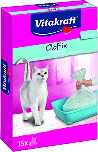 Vitakraft CloFix, Beutel für Katzentoilette, 15 Beutel