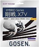 ゴーセン(GOSEN) 剛戦X7V(1.22㎜+1.24㎜) 6.5m+5.0m ロイヤルブルー/ナチュラル SS507 ロイヤルブルー 124