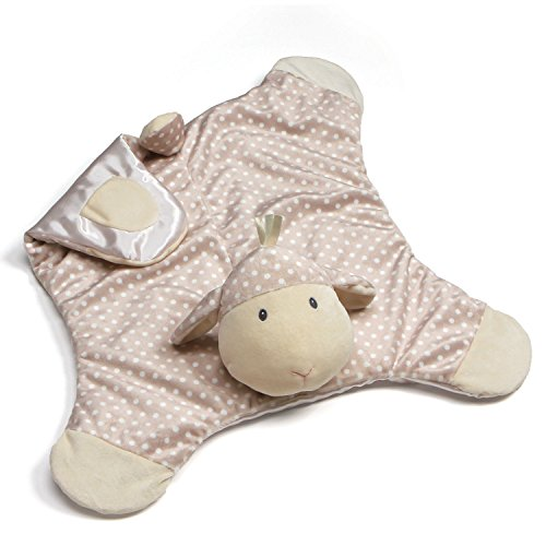 GUND Baby Roly Polys Lamb Comfy Cozy Blanket Stuffed Animal Plush Toy, Taupe, 24""
