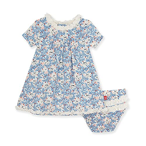 Magnetic Me Baby Girls Dress and Diaper Cover Set Soft Modal Clothing Outfit Somebunny 9-12 Months