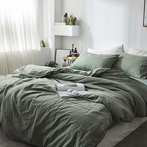 GELU Four-piece Cotton, Washed Cotton, Striped Simple Solid Color, Bedding,D-2.0m
