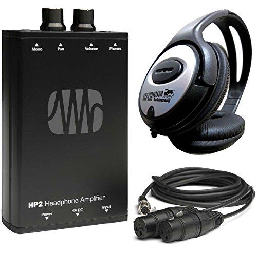 Presonus HP2 Kopfhörer-Verstärker + keepdrum Stereo-Kopfhörer
