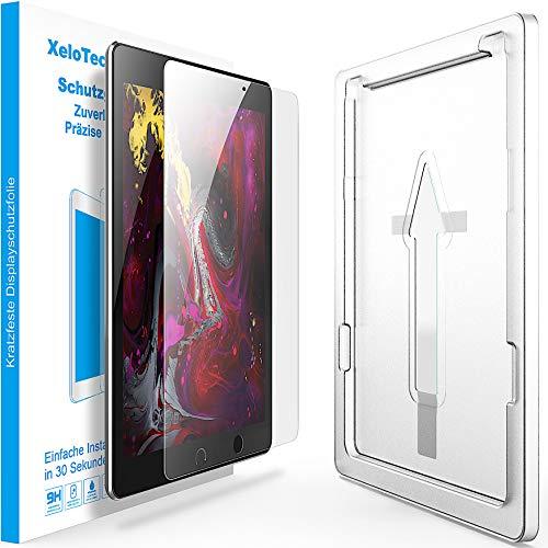 XeloTech Schutzglas für iPad Air 10.5 Zoll (2019) / iPad Pro 10.5 (2017) - Mit Schablone - Kompatibel mit Hülle und Hülle - Panzerfolie, Hartglas, Schutzfolie