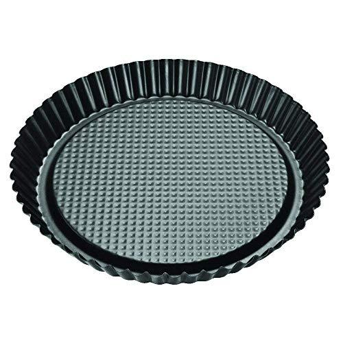 Zenker 6522 Moule à tarte Ø30 cm noir-métallique, Acier Inoxydable, 30 cm