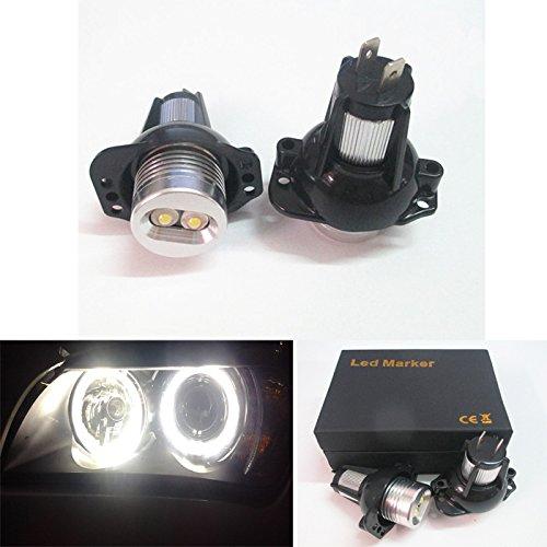 63117161444lampadina LED alogena ad anello 'angel eye', luci di posizione allo xenon di colore bianco
