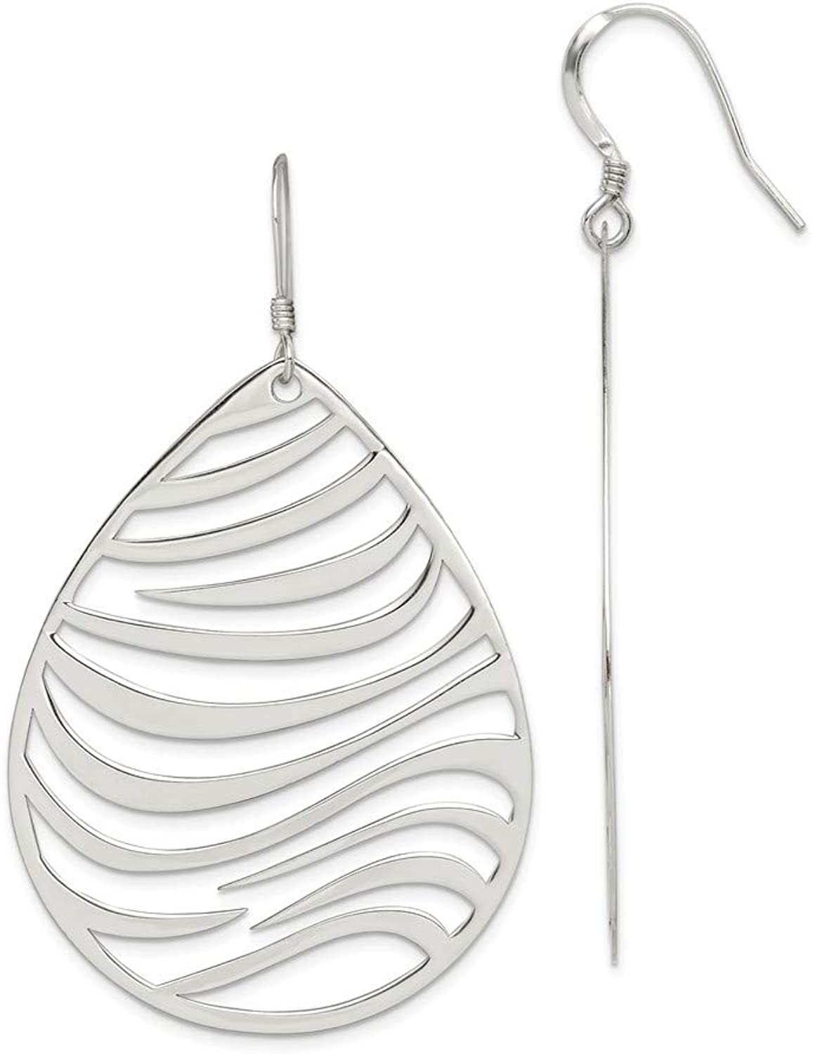 Beautiful Sterling silver 925 sterling Sterling Silver Polished Circle Dangle Earrings