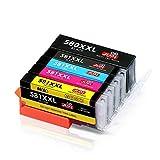 JIMIGO PGI-580 CLI-581 XXL Druckerpatronen Ersatz für Canon 580 581 Patronen Kompatibel mit Canon Pixma TR8550 TS6150 TS8150 TR7550 TS8250 TS6250 TS9550 TS8151 TS6151 TS9150 TS8251 TS6251