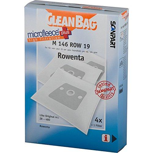 CleanBag M 146 ROW 19 Sacs à poussière tels que ZR-480 + 1 Filtre universel