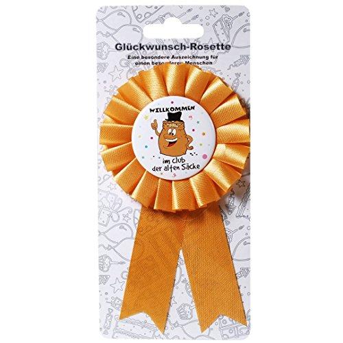 bb10 Schmuck Scherzartikel Anstecker Willkommen im Club der Alten Säcke Glückwunschrosette Rosette ALS Geburtstagsgeschenk oder Gagartikel für Party oder andere Anlässe