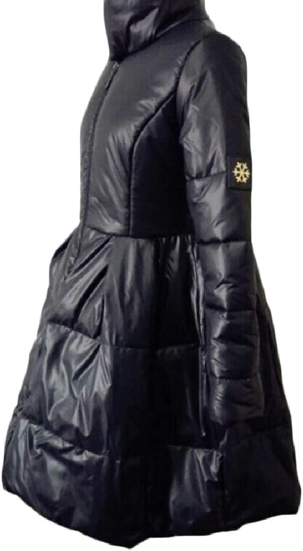CBTLVSN Women's Zip Thicken Full Long Stand CollarPuffer Parka Jacket Coat