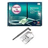 Alfa Network AWUS036H - Adaptador USB WiFi, larga distancia con antena de 2dBi o 5 dBi, 54 Mbps, 802.11b/g, conector RP-SMA