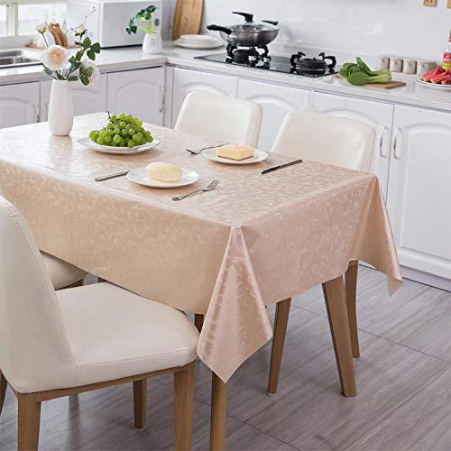 XLLJA Wasserdicht und ölbeständig PVC Tischdecke Stoff Pu Leder Tischdecke-immergrün_137 * 160cm,fleckenabweisende und bügelfreie Tischdecke