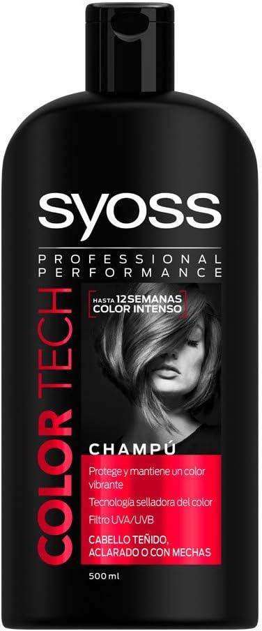 Syoss, Champú Color Tech - con Tecnología selladora del Color ...
