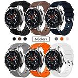 Sundaree Compatible con Correa Galaxy Watch 46MM/Gear S3 Frontier/Classic,6 Colores Silicona 22MM Banda Pulseras Repuesto Correa para Samsung Galaxy Watch 46MM SM-R800/Gear S3 Frontier/Classic(46MM)