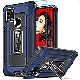 LeYi Funda Samsung Galaxy A21S con [2-Unidades] Cristal Templado Protector Pantalla, Carcasa con...
