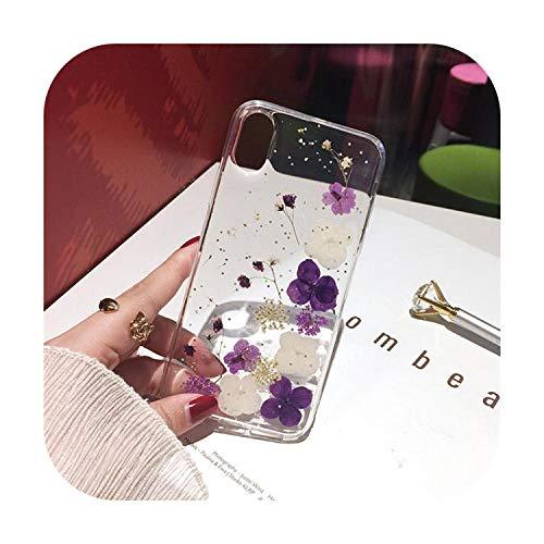 Miglior Cover per iPhone 11 Pro, motivo fiori secchi a mano chiaro custodia per telefono pressata per iPhone 11 Pro Max X XS Max XR 6 6S 7 8 Plus se 2020 Cover morbida 5-per iPhone SE 2020
