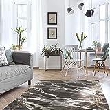 MyShop24h Alfombra de salón – 200 x 290 – Dorado – Pelo corto – jaspeado moderno vintage dormitorio aspecto mármol decoración