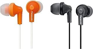 【セット買い】パナソニック カナル型イヤホン オレンジ RP-HJE150-D & ステレオインサイドホン 密閉型 ブラック RP-HJS150-K