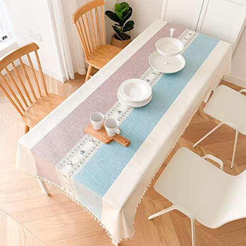 Mantel de tela de estilo europeo impermeable, antiquemaduras, resistente al aceite, desechable rectangular hotel restaurante mantel casa mesa de café mantel mantel