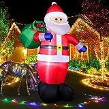 Decoración inflable de Navidad para exteriores de Papá Noel para jardín, Papá Noel gigante Navidad, decoración fiesta vacaciones resistente a la intemperie para césped jardín