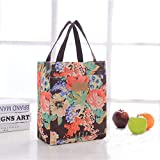 Insulated Lunch Bag - Tote Style Small Cool Bag With Floral Pattern...