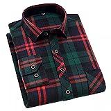HDDFG Camisa a cuadros de algodón 45% para hombres, camisas delgadas de manga larga, cómodas, cómodas, informales, cómodas y saludables (Color : A, Size : S code)