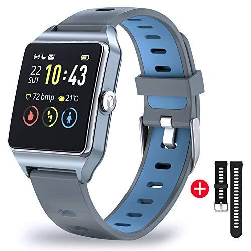 Montre Connectée Femmes Homme Smartwatch Tactile Bracelet Connecté Etanche 5ATM Sport Podometre GPS Cardio Montre Intelligente Vibrante Fitness Tracker Running pour Android iOS