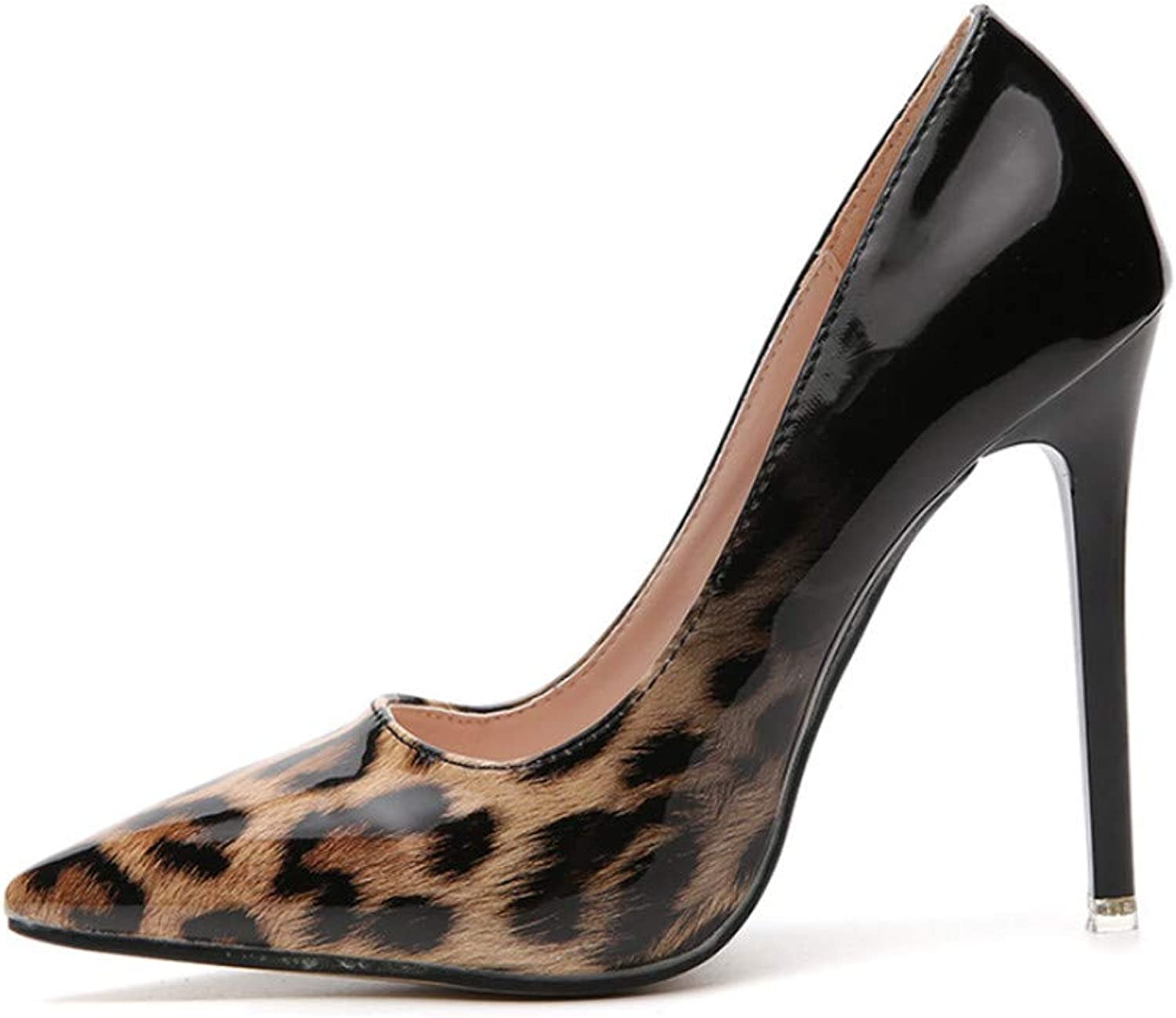 High Heels, Simple Leopard High Heels European and American Models Sexy Thin with Shallow Sandals Women's shoes