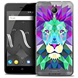 Ultra-Slim Polygon Animal Lion Case for 5 inch Wiko Jerry 2