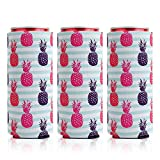 3 Pack Pineapple Slim Can Cooler,Cute Neoprene Can Cooler Sleeves Fits for 12oz Tall Skinny Cans like White Claw,Red Bull,Michelob Ultra and Beer Beverage Holders/Hugger/Huggie/Insulator …
