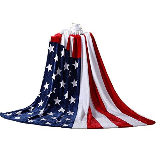 Blue Star ,  Unisex-Erwachsene Decke us-flagge