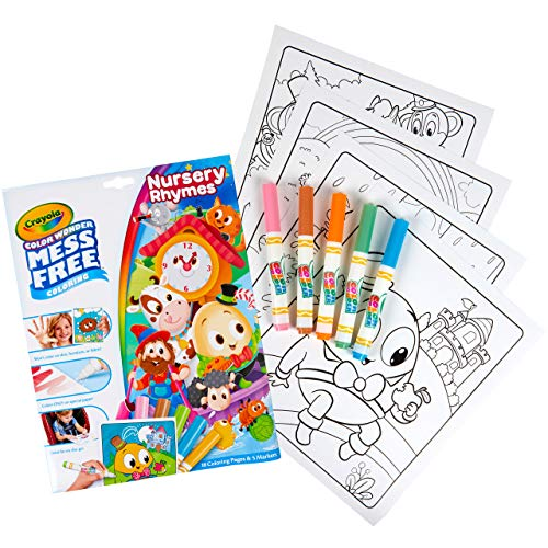 Crayola Nursery Rhymes, Mess Free Pages & Markers Color Wonder, Multicolor