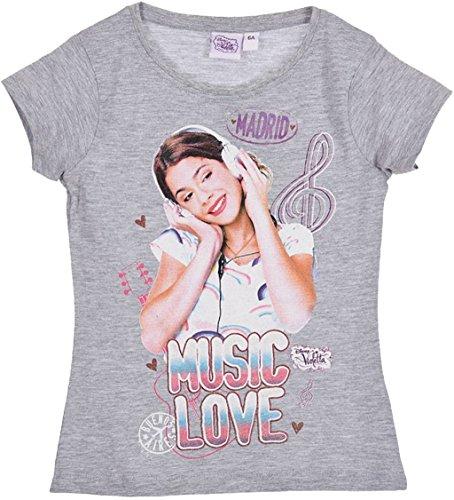 Disney - Camiseta de manga corta - para niña Gris gris