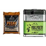 Traeger Grills PEL314 Pecan 100% All-Natural Hardwood Pellets Grill, Smoke, Bake, Roast, Braise and BBQ, 20 lb. Bag, Multicolor & SPC171 Pork and Poultry Rub