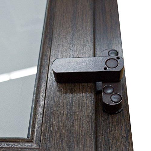 10 x Bever Stuco Safe Fenstersicherung, 1-flügelig, braun, 20SB