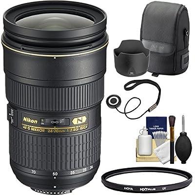 Nikon 24-70mm f/2.8G AF-S ED Zoom-Nikkor Lens with Hood & Pouch Case + Filter Kit for D3200, D3300, D5300, D5500, D7100, D7200, D750, D810 Cameras from Nikon