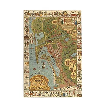 Puzzles For Adults 1000 Piece ,San Diego Map Old Jigsaw Puzzle,Educational Intellectual Decompressing Toy Game For Kids Adults