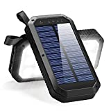 Solar Charger 8000mAh, BESWILL 3 USB Ports and 21...